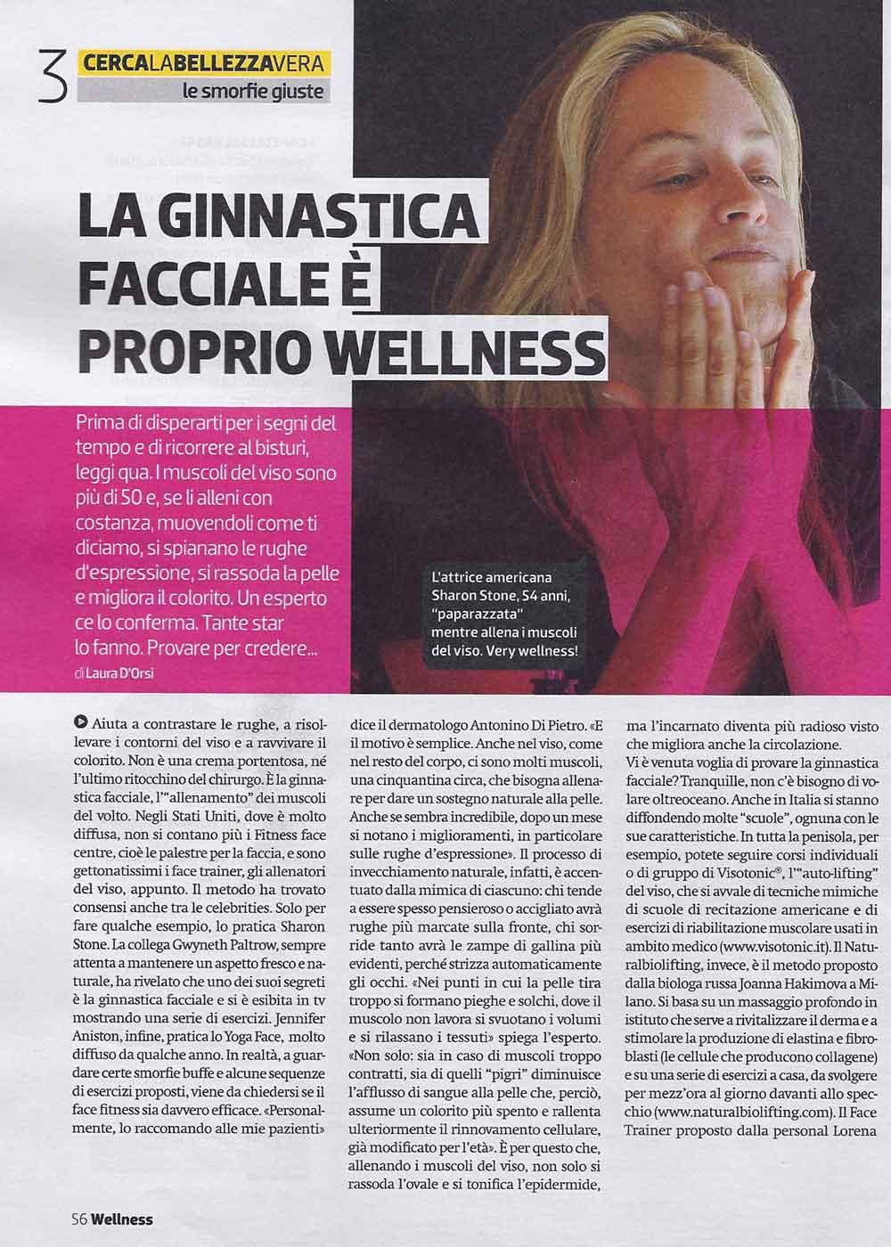 Wellness di Donna Moderna, articolo
